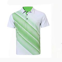 Homme Manches Courtes Golf Respirable Anti-transpiration Confortable Golf Sport de détente