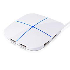 6 porter usb høyhastighets hub utvidelse tf / sd kort fargerikt lys maksimal støtte 2t harddisk