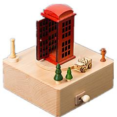 Music Box Čtvercový Potřeby na svátky Dřevo Unisex