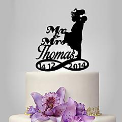 Figurky na svatební dort Přizpůsobeno Klasický pár Akryl Svatba Výročí Párty pro nevěstu Zahradní motiv Klasický motiv OPP