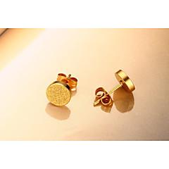Femme Boucles d'Oreille Elegant Acier inoxydable 24K Plated Gold Forme de Cercle Bijoux Pour Mariage Soirée Fiançailles Quotidien