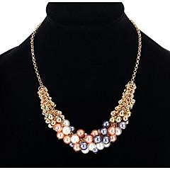 Dame Anheng Halskjede Kjedehalskjeder Imitert Perle Smykker Imitert Perle LegeringEnkelt design Unikt design Perle Venskap Luksus Smykker
