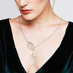 Žene Ogrlice s privjeskom Leaf Shape Plastika Prilagodljivo Moda kostim nakit Jewelry Za Vjenčanje Party Dnevno Kauzalni