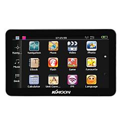 Kkmoon 7 портативный hd экран gps навигатор 128mb ram 4gb rom mp3 fm видеоигра bluetooth автомобильная развлекательная система с