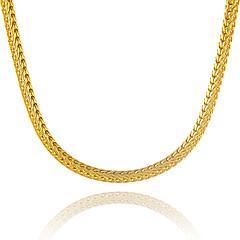 Herre Dame Kjedehalskjeder Geometrisk Form Slange Gullbelagt Unikt design kostyme smykker Euro-Amerikansk Erklæringssmykker Smykker Til