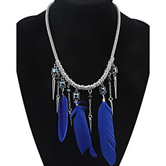 בגדי ריקוד נשים בנות שרשראות מחרוזת שרשראות תליון תכשיטים תכשיטים כנפיים / נוצה עור סגסוגתעיצוב בייסיק עיצוב מיוחד חברות Rock סגנון חמוד