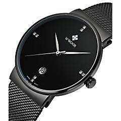 Homens Relógio Elegante Quartzo Calendário Lega Banda Cores Múltiplas