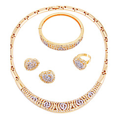 Women's Necklace Fashion Simple Style Classic Rhinestone Gold Plated For Wedding Party Engagement Ceremony Evening Party Wedding Gifts