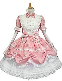 Uma-Peça/Vestidos Gótica Doce Lolita Clássica e Tradicional Punk Princesa Rosa Acessórios Lolita Vestido Laço Para Renda Algodão