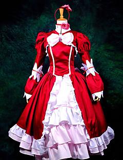 Inspiré par Black Butler Elizabeth Manga Costumes de Cosplay Costumes Cosplay Robes Mosaïque Manches Longues Cache-col Robe Châle Gants