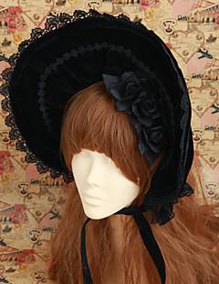 Lolita Accessoires Gothic Lolita Lolita Zwart Lolita-accessoires CAP constructie Hoed Kant Voor