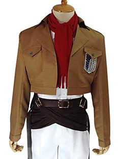 Inspirirana Napad na Titanu Mikasa Ackermann Anime Cosplay nošnje Cosplay Suits Jednobojni Dugih rukavaKaput Shirt Hlače Struk Pribor