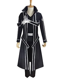 Inspirirana Sword Art Online Kirito Anime Cosplay nošnje Cosplay Suits Jednobojni Dugih rukava Kaput Hlače Rukavice Pojas T-majica Vezica