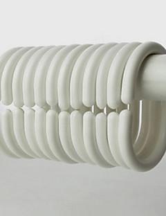 Duș Cortina Hooks, High Class Modern alb Oval Forma (12 pack)