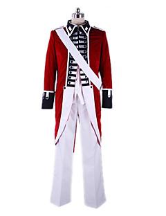Inspiré par Hetalia England Arthur Kirkland Manga Costumes de Cosplay Costumes Cosplay Mosaïque Manteau Chemise Pantalon Manche Ruban Pour