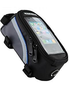 ROSWHEEL® תיק אופניים 1/1.2/1.5Lתיקים למסגרת האופניים טלפון נייד תיק עמיד למים פס מחזיר אור ניתן ללבישה מסך מגע טלפון/Iphone מונע החלקה