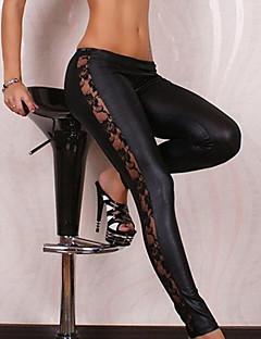 女性のレースの黒のセクシーなボディコン痩身伸縮レギンス