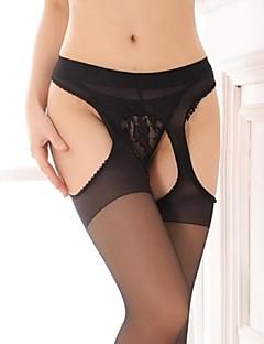 női szexi fekete nylon harisnya nyitott csúzli