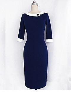 Monta slim fit kolme neljäsosaa hihat mekko käänne
