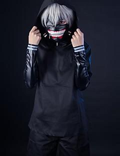 Costumes Cosplay Inspiré par Tokyo Ghoul Ken Kaneki Manga Accessoires de Cosplay Manteau Haut Pantalon Masque ShortCuir PU Laine