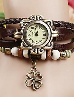 לנשים שעוני אופנה שעון צמיד קווארץ PU להקה בוהמי שחור לבן כחול אדום תפוז חום ירוק צהוב קפה אדום ירוק כחול
