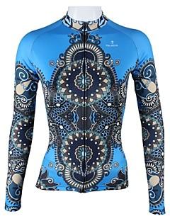 ILPALADINO Maillot de Cyclisme Femme Manches Longues Vélo Maillot Hauts/Tops Séchage rapide Respirable 100 % Polyester Rayure Mode