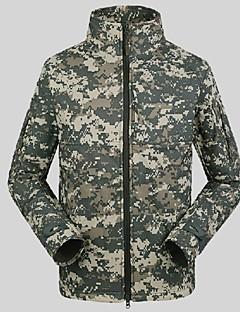Miesten Softshell-takki vaellukseen Pidä lämpimänä Tuulenkestävä Sateen kestävä Sateenkestävä vetoketju Etuvetoketju Pölynkestävä