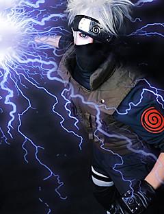 Perucas de Cosplay Naruto Hatake Kakashi Branco Curto Anime Perucas de Cosplay 35 CM Fibra Resistente ao Calor Masculino
