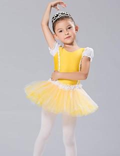 בגדי ריקוד לילדים חלקים עליונים שמלות וחצאיות טוטוס בגדי ריקוד ילדים שיפון ספנדקס שרוול ארוך