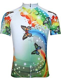 JESOCYCLING Camisa para Ciclismo Mulheres Manga Curta Moto Camisa/Roupas Para Esporte Blusas Secagem Rápida Zíper Frontal Respirável