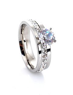 Kadın's Evlilik Yüzükleri Aşk Avrupa lüks mücevher Moda kostüm takısı Değerli Taş Kristal Simüle Elmas alaşım Dört Tırnaklı Mücevher