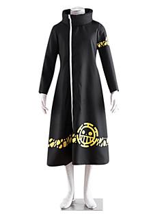에서 영감을 받다 One Piece 트라팔가 법 에니메이션 코스프레 코스츔 코스프레 정장 프린트 긴 소매 코트 제품 남성 여성
