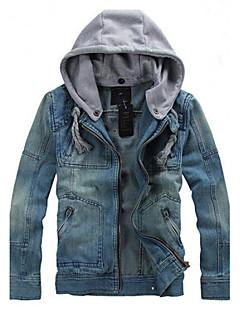 אחרים עם קפוצ'ון פשוט סגנון רחוב לבוש ליום פגישה (דייט) חופשה ג'קט גברים,סתיו חורף שרוול ארוך רגיל לא זמין