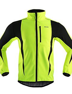 Arsuxeo Cycling Jacket Men's Bike Jacket Fleece Jackets Tops Thermal / Warm Windproof Anatomic Design Breathable Back Pocket Reflective