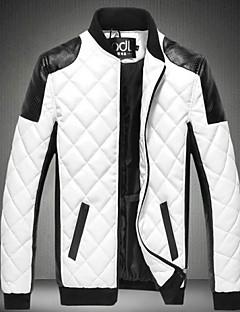 צבעוני עומד ארט דקו / רטרו לבוש ליום רחוב ג'קט גברים,סתיו חורף שרוול ארוך רגיל לא זמין