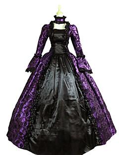 Yksiosainen/Mekot Gothic Lolita Steampunk® Viktoriaaninen Cosplay Lolita-mekot Purppura Vintage Runoilija Pitkähihainen Pitkä Pituus