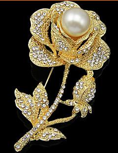 נשים תפס לשיער אופנתי תכשיטי יוקרה תכשיטים פנינה יהלום מדומה Flower Shape ורד תכשיטים עבור חתונה Party אירוע מיוחד יום הולדת יומי