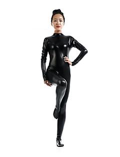 Zentai asut Morphsuit Ninja Zentai Cosplay-asut Musta Yhtenäinen Trikoot/Kokopuku Zentai Spandex Kiiltävä metallinen UnisexHalloween
