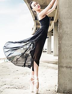 Ballet Outfits Dames Prestatie elastan Satijn Gerimpeld Gedrapeerd 2-delig Mouwloos Top Rok