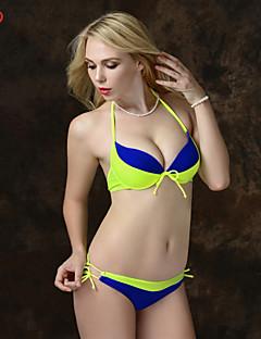 Bikinis Aux femmes Couleur Pleine Push-up / Soutien-gorge Rembourré Bandeau Spandex