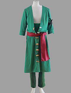 Inspiré par One Piece Roronoa Zoro Manga Costumes de Cosplay Costumes Cosplay Couleur Pleine Manteau Pantalon Pour Masculin