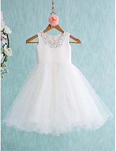 Ball gown polvipituus kukka tyttö mekko - tylli hihaton jalokivi kaulana lan ting bride®