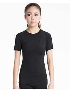 Mulheres Camiseta de Corrida Manga Curta Secagem Rápida Respirável Redutor de Suor Elástico Compressão Pulôver Camiseta Blusas para Ioga