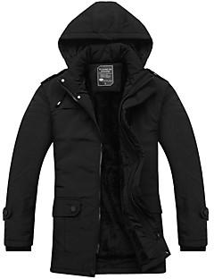 コート レギュラー パッド入り メンズ,カジュアル/普段着 ソリッド ポリエステル 中綿なし 長袖