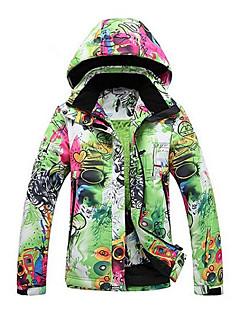 Mulheres Jaqueta de Esqui Térmico/Quente A Prova de Vento Vestível Poliéster Roupa de Esqui Roupa de Inverno Acampar e Caminhar Esportes