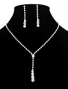 Naisten Korusetti Pisarakorvakorut Riipus-kaulakorut Tyylikäs pukukorut Muoti Eurooppalainen minimalistisesta Morsius Tekojalokivi