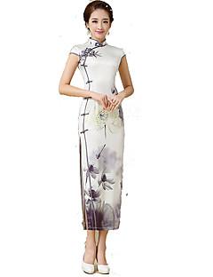 Hameet Klassinen ja Perinteinen Lolita Cosplay Lolita-mekot Painettu Lyhythihainen Pitkä Pituus varten Silkki