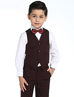Хлопок Детский праздничный костюм - 4 Куски Включает в себя Рубашка / Жилет / Брюки / Галстук-бабочка