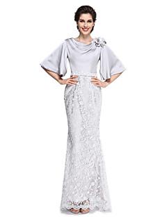 Τρομπέτα / Γοργόνα Ντραπέ Μέχρι τον αστράγαλο Δαντέλα Σατέν σιφόν Φόρεμα Μητέρας της Νύφης - Λουλούδι(α) Δαντέλα με LAN TING BRIDE®