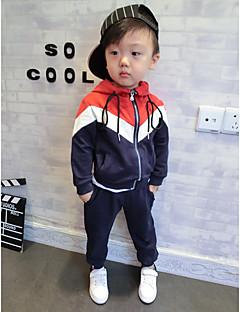Boy's Sports Solid Hoodie & SweatshirtCotton Spring / Fall Black / Blue / Red
